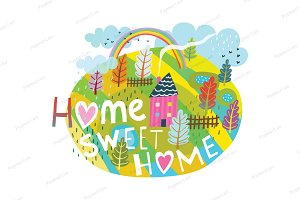 Home Sweet Home Graphic Lettering