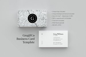 Greg&Co. Business Card Template