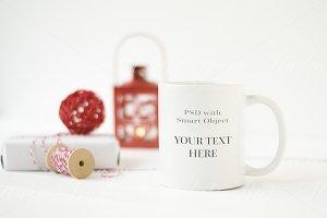 White & Red Mug Mockup - wmg135