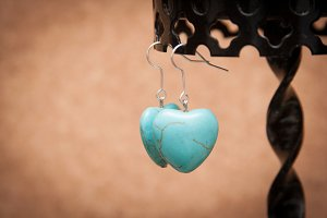 Earrings with love
