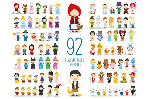 92 Classic Tales Characters