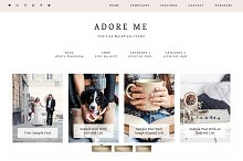 Adore Me WordPress Theme by  in Minimal
