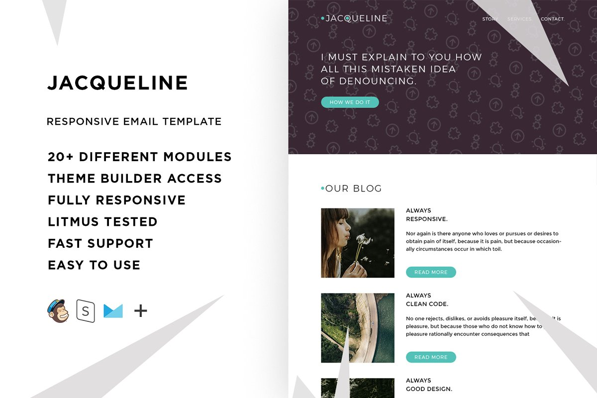 Jacq – Responsive Email template