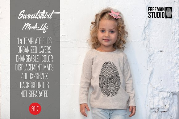 Kids Sweatshirt Mock-Up Vol.2 2017