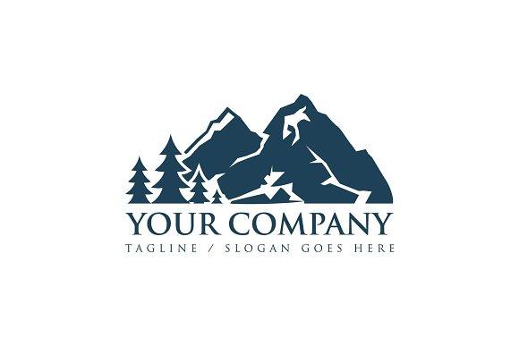 rock mountain logo template logo templates creative market