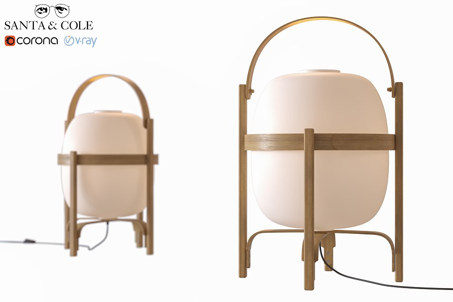 Table lamp CESTA by Santa & Cole
