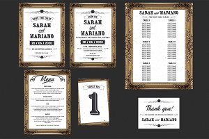 Frame Wedding Invitation Suit