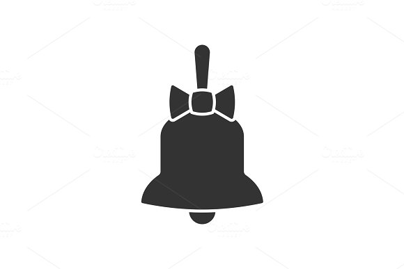 Bell With Bow Icon