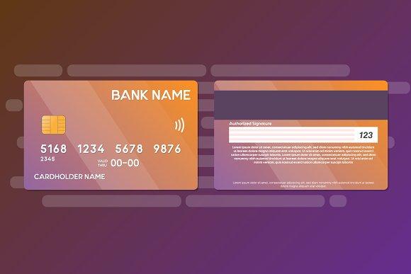 credit card template vector 2 side card templates creative market