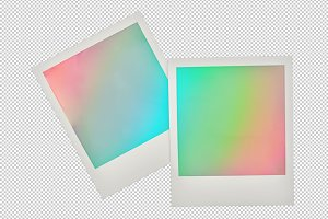 Polaroid photo frames PNG
