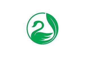 Leaf Swan - Logo Template