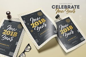 New Year 2018 Flyers
