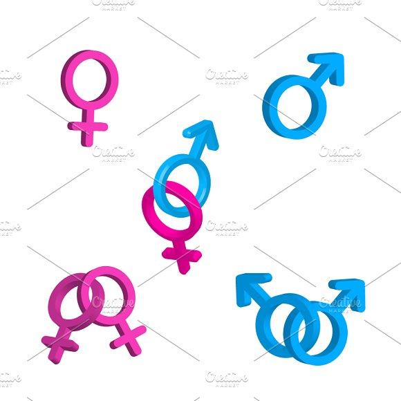 Men and women gender signs