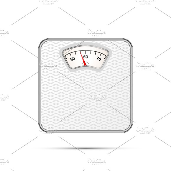 Glossy realistic weigher icon
