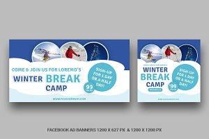 Kids Winter Camp Facebook AD - SK