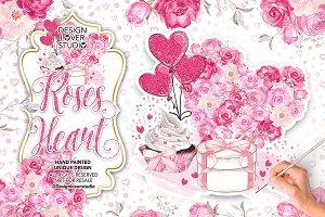 Roses Heart design