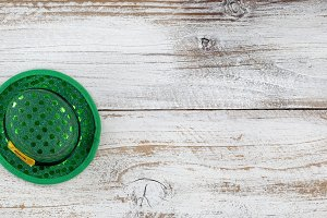 St Patrick's Day Hat on wood