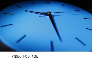 Blue clock. Real time.