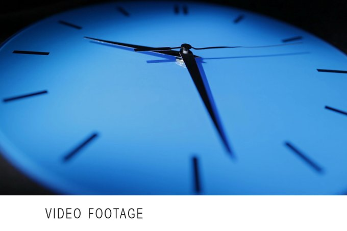 Blue clock. Real time. - Arts & Entertainment