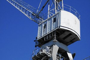 Large steel crane