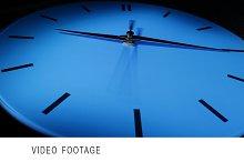 Blue clock. Time lapse.