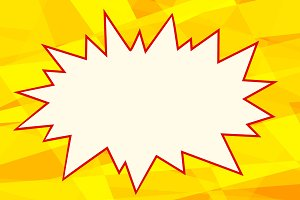 yellow pop art background comics bubble