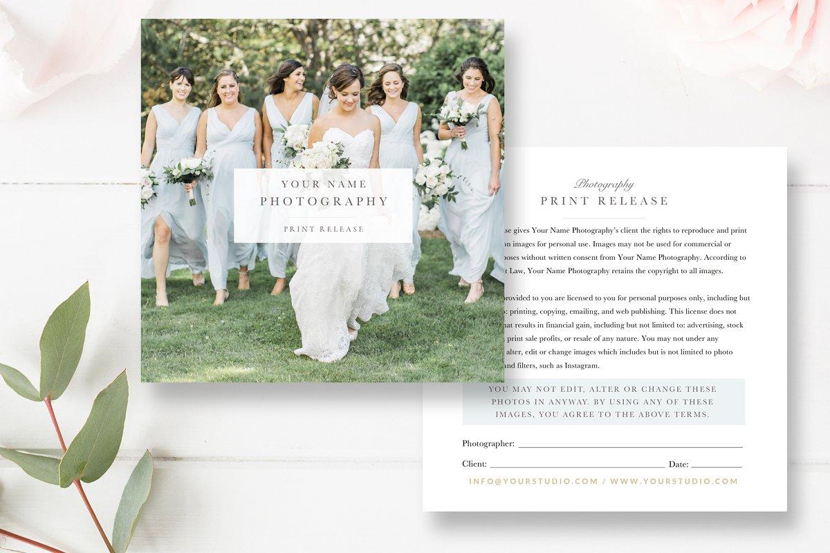 Photographer Print Release PSD