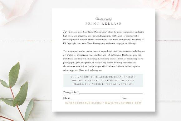 Photographer Print Release PSD Flyer Templates Creative Market