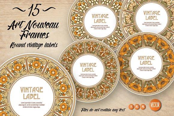 15 Art Nouveau Labels