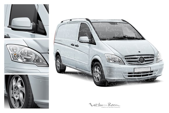 Delivery Vehicle Mockup in Product Mockups - product preview 1