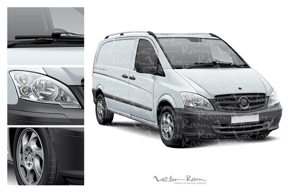 Delivery Vehicle Mockup in Product Mockups - product preview 2