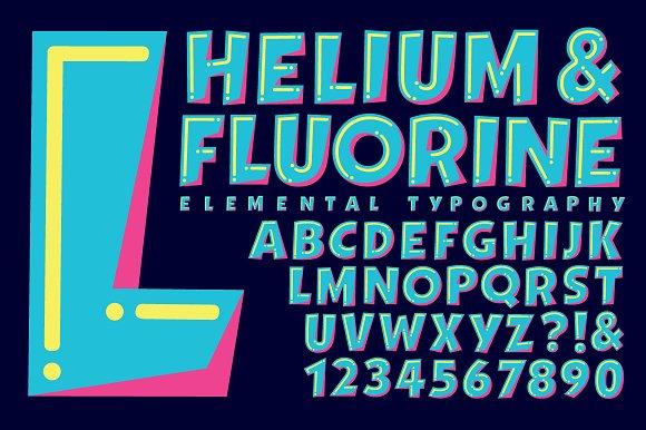 Lettering Design: Helium & Fluorine in Objects