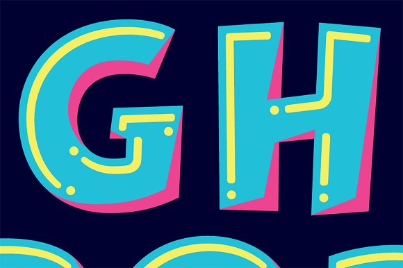 Lettering Design: Helium & Fluorine in Objects - product preview 1