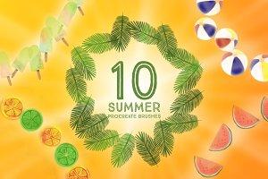 10 Summer Procreate Brushes