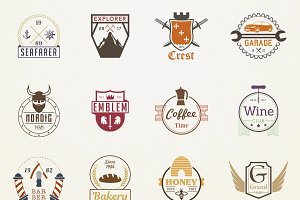 570+ Badges Logo Bundle 92% off