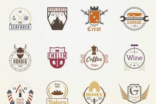 570+ Badges Logo Bundle 92% off