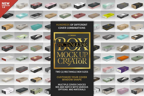 Rectangular Box Mock Up Creator