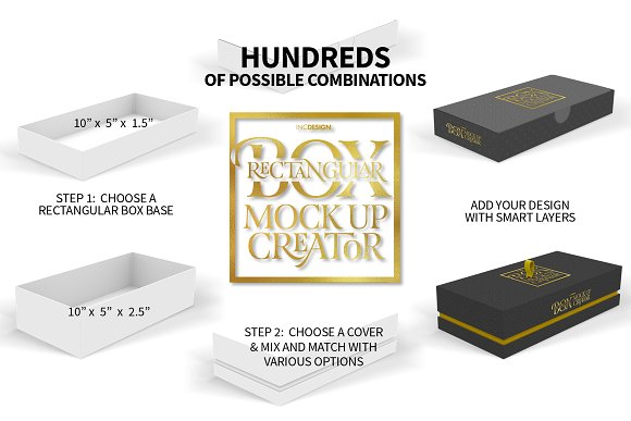 Rectangular Box Mock Up Creator in Product Mockups - product preview 1