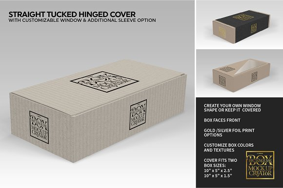 Rectangular Box Mock Up Creator in Product Mockups - product preview 4