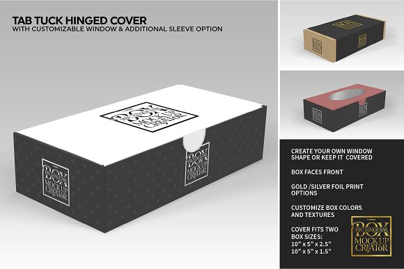 Rectangular Box Mock Up Creator in Product Mockups - product preview 6