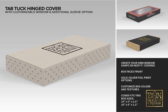 Rectangular Box Mock Up Creator in Product Mockups - product preview 7