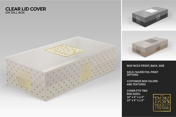 Rectangular Box Mock Up Creator in Product Mockups - product preview 11