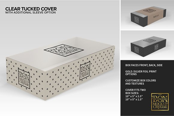 Rectangular Box Mock Up Creator in Product Mockups - product preview 13