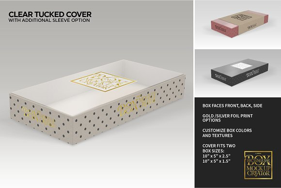 Rectangular Box Mock Up Creator in Product Mockups - product preview 14