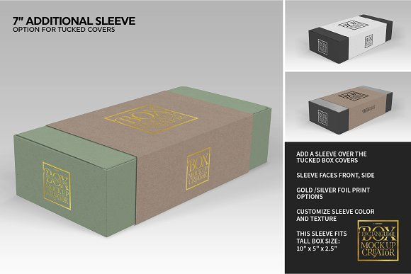 Rectangular Box Mock Up Creator in Product Mockups - product preview 17
