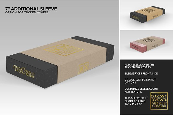 Rectangular Box Mock Up Creator in Product Mockups - product preview 18