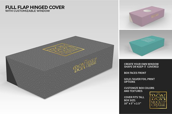 Rectangular Box Mock Up Creator in Product Mockups - product preview 24