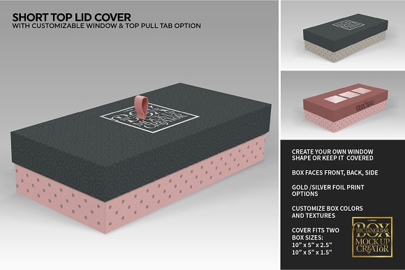 Rectangular Box Mock Up Creator in Product Mockups - product preview 27