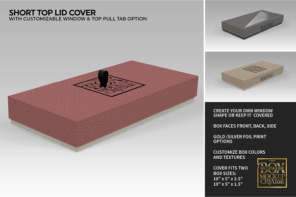 Rectangular Box Mock Up Creator in Product Mockups - product preview 28