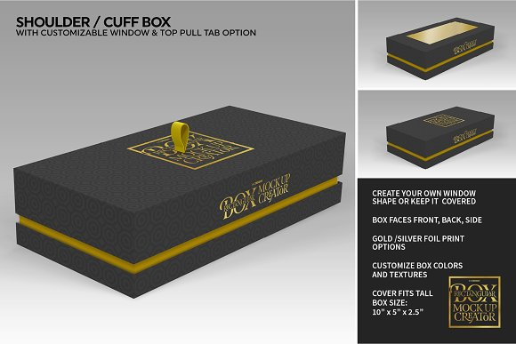 Rectangular Box Mock Up Creator in Product Mockups - product preview 29
